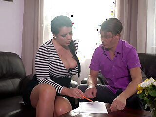 Mesmerizing busty brunette MILF Anissa Jolie is fond of great doggy