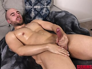 Simply buddy gets bared added here enjoys wanking his lubed horseshit here please himself