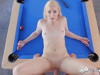 Blonde bitch banged after billiard wager
