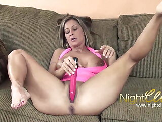 Take charge blonde mature has first sex in front of camera